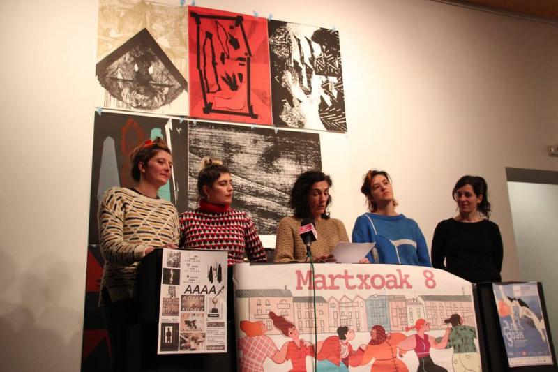 Les revendications liées à la Journée Internationale des Femmes commenceront demain (2 mars) à Tolosa