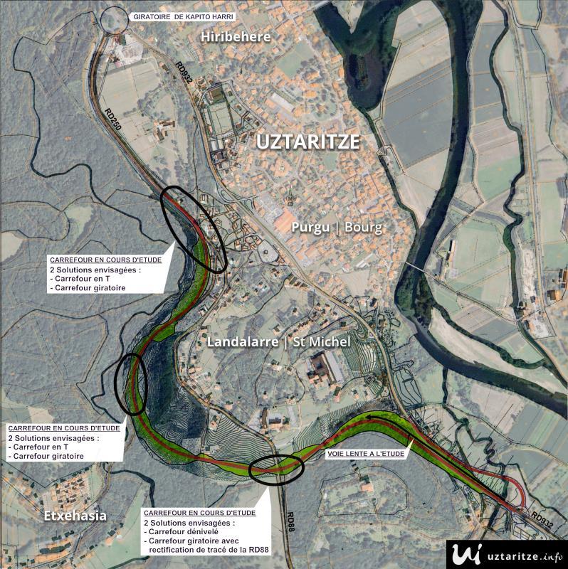 Projet d'étude du contournement d'Uztaritze